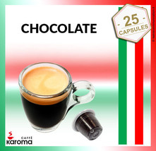 25 Capsules Compatible With Most Machines NESPRESSO PODS. Creamy Chocolate! - $11.19