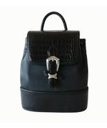 Authentic Brighton Black Crocodile Leather Draw... - $65.00