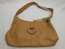 The Sak Original Tan Satchel Medium Size Leather Handbag Purse - $19.78