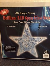 """Large Christmas 24"""" Brilliant LED Spun Glass Color Changing Star By J Ho... - $29.69"""