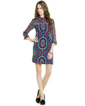 "Nanette Lepore ""Hot to Trot"" Iris Print Tunic Dress Size 2   NWT $398 - $264.36 CAD"