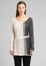 CALVIN KLEIN Ombre Long Sleeve Belted Sweater Small  NWT $99 - $59.00