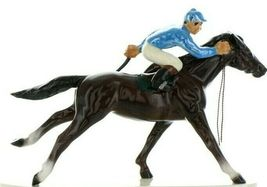 Hagen Renaker Specialty Horse with Jockey Racing Ceramic Figurine image 7