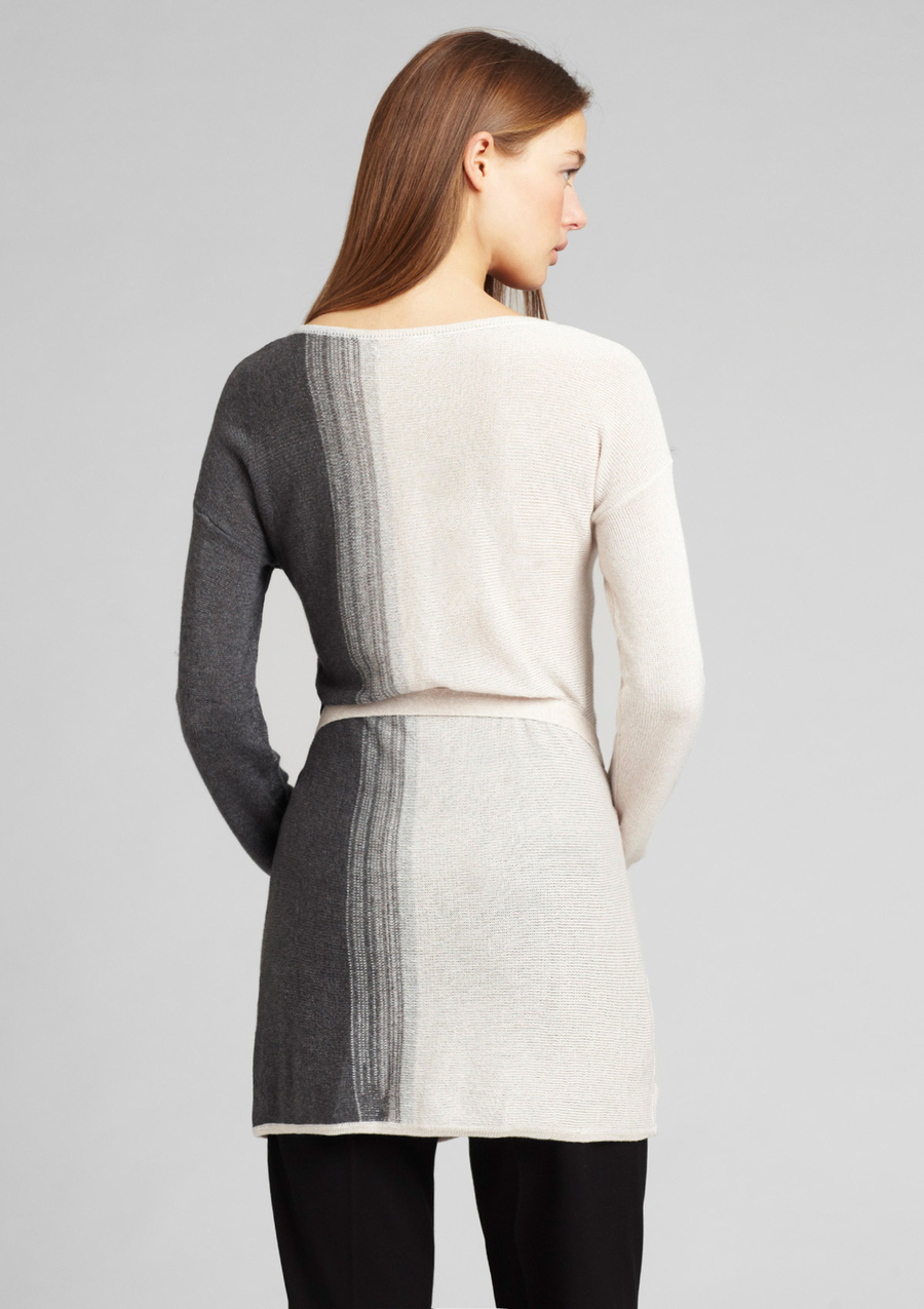 CALVIN KLEIN Ombre Long Sleeve Belted Sweater Small  NWT $99