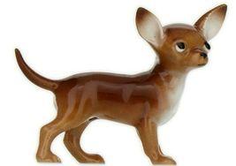 Hagen Renaker Dog Chihuahua Small Brown and White Ceramic Figurine image 3