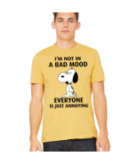 Snoopy Peanuts t shirt, Snoopy Angry dog unisex tee, Charlie Brown's cut... - $19.79+