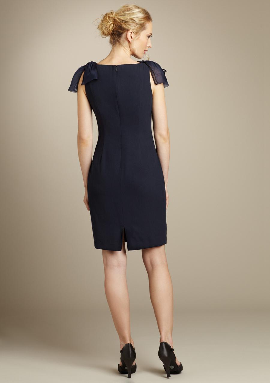 CARMEN MARC BY CARMEN MARC VALVO Embellished Shoulder V-Neck Dress Sz 2 NWT $330