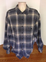 LL Bean Mens Blue Shirt Unlined Jacket Unlined Button Down Classic Size ... - $33.85