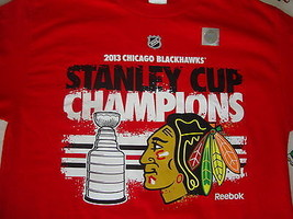 NEW NHL Chicago Blackhawks 2013 Stanly Cup Champions T Shirt Men's size M - $15.48