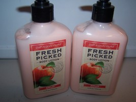 Lot of 2 Bath & Body Works Fresh Picked Apples Body Lotion - Limited Edition - $29.50