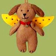 Brown Dog Angel Felt Christmas Ornament - $5.95