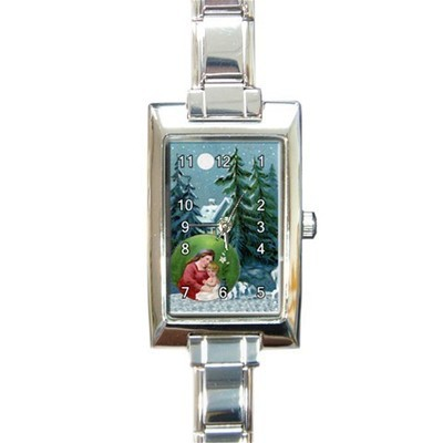 Ladies Rectangular Italian Charm Watch Christmas Eve Gift model 32879300