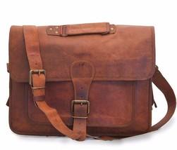 New Men's Leather Bag Business Messenger Laptop Shoulder Briefcase Handbag Brown - $57.63
