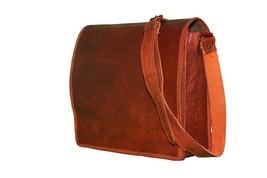 GHC Men's Vintage Brown Leather Full Flap Messenger Laptop Satchel Shoulder Bag - $40.00