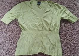 Women's George Green 3/4 Sleeve Button Down Shirt Size XL 16-18 - $9.00