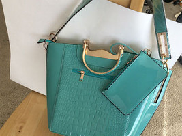 MKF Collection Tressa Croco-Embossed Style Shoulder Tote with Removable Strap - $34.64