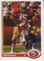 Dexter Carter 1991 Upper Deck Card #125 - $0.99