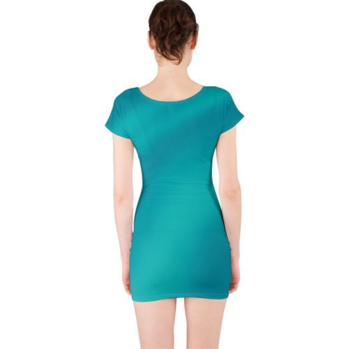 Cute Green Ripples Tight Fitted Bodycon Dresses - Size & Sleeve Options