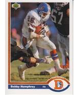 Bobby Humphrey 1991 Upper Deck Card #142 - $0.99