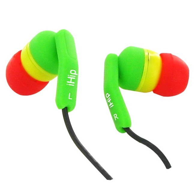 Primary image for iHip Rasta Fashionable Noise Isolating Earbuds