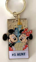 Disney Parks Mickey Minnie Mouse Character Metal Keychain #1 Aunt NEW - $19.90