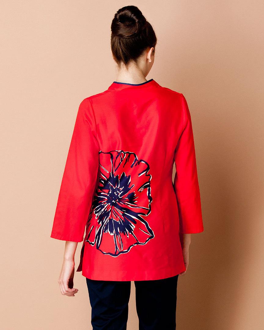 "Lilly Pulitzer ""Ciara"" Pink Tomato Floral Print Tunic XS NWT"