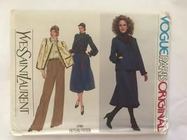 """Vogue Paris Original Pattern #1781 """"Yves Saint Laurent"""" Ysl~ Uncut 12 - $18.81"""