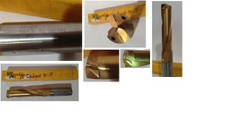 "Japan  57/64"" CT Drill TiN 1"" Shank 3-3/4"" Flute Length  7-3/16"" OAL - $72.57"