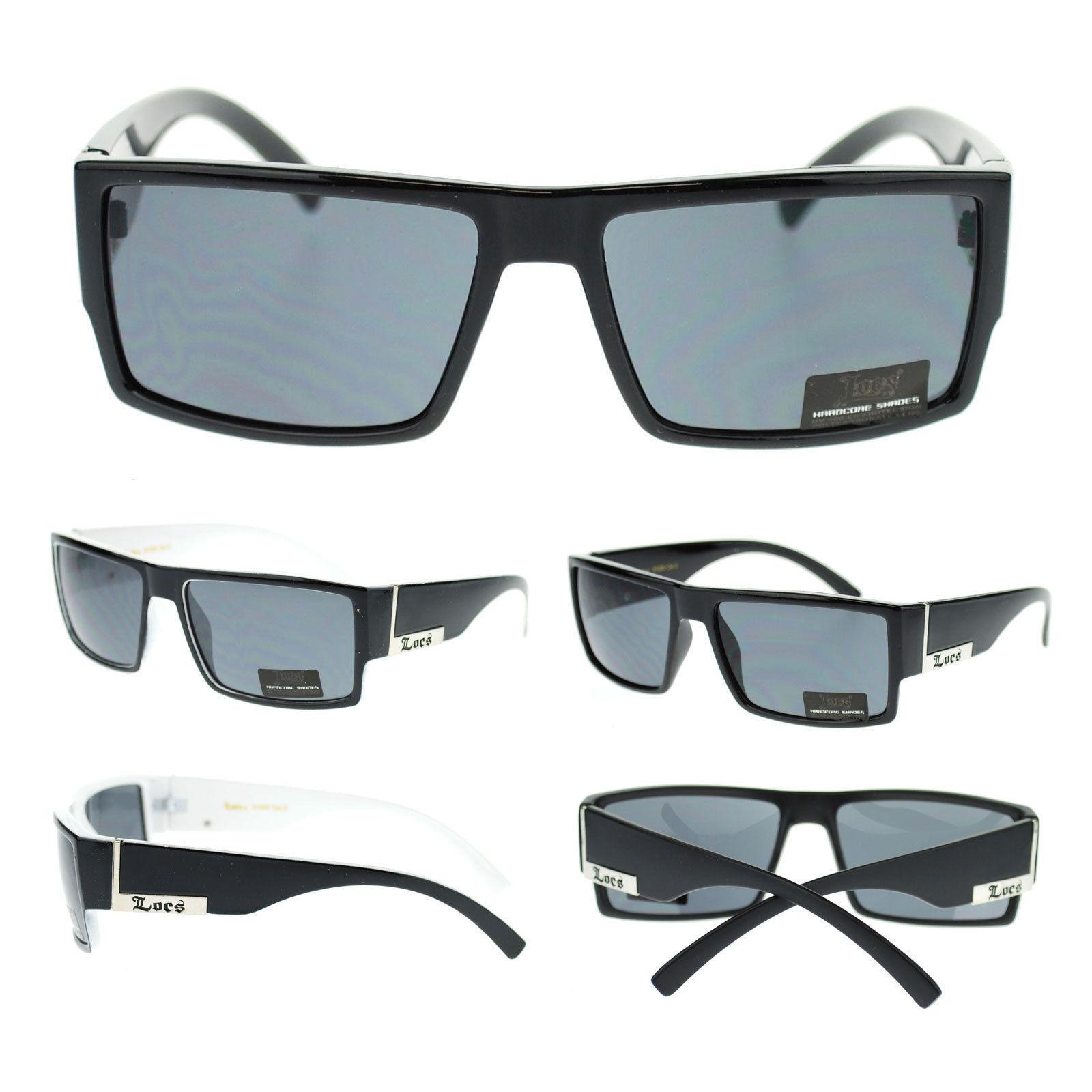 c977b7161224 Locs Black Mens Hardcore Gangster Rectangular Plastic Biker Sport New  Sunglasses - $9.95