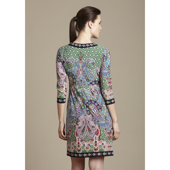 MUSE Printed Deep Vneck  Dress Sz 2 NWT $188
