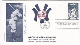 BABE RUTH #2046 CHICAGO, IL JULY 6, 1983 STAMP CENTER #1 CACHET SIGNED - $2.98