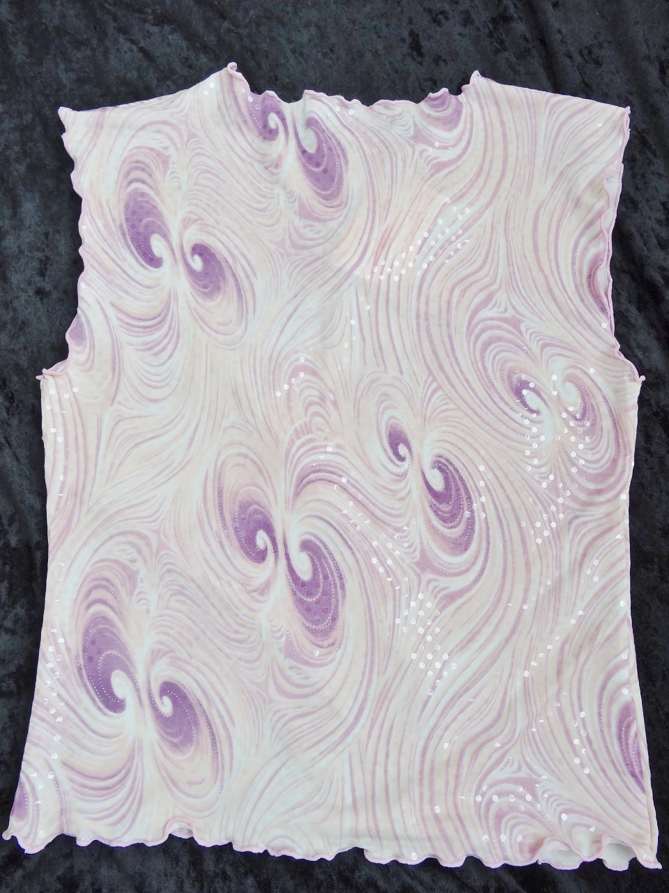 BEBE Lavender/Pink Sequin Top Medium  NWT