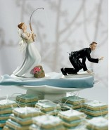 Gone Fishing Couple Bride & Groom Wedding Cake Topper CUSTOMIZATION Avai... - $58.98