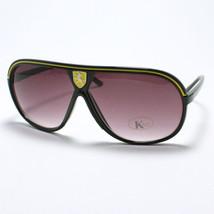 Retro Flat Top Racing Celebrity Style Aviator Sunglasses Black - $6.88