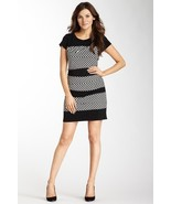 Laundry by Shelli Segal Crew Neck Dress with Layered Stripe Print Sz 4 N... - $117.04