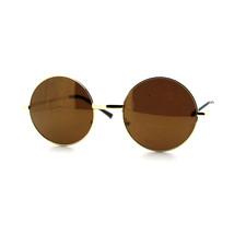 Round Circle Frame Sunglasses Thin Metal Spring Hinge Mirror Lens - $7.15+