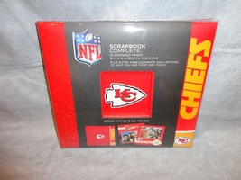 "KANSAS CITY CHIEFS TEAM LOGO SCRAPBOOK COMPLETE KIT 8""X8"" NFL W EMBELISH... - $11.83"