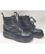 Dr. Martens Womens Boots Vintage Black Smooth 6 Eyelet Made in England US 6 - $84.83