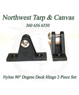 Boat Nylon Deck Hinge, Black, 90° Degree, 2 Piece Set -Shipped from The ... - $7.87