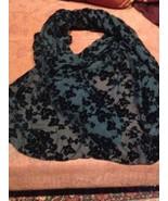 Hand Embroidered Antique Vintage  Black Silk Velvet Pianno Wrap Shawl - $282.15