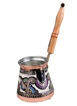 Handmade Unique Copper Coffee Pot Stovetop Pot (Cezve/Ibrik) Hand painted - $39.99+