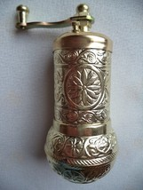 Traditional Turkish Handmade Brass Antique Salt Pepper Spice Grinder 4''... - £5.10 GBP+