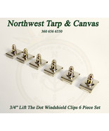 """Lift The Dot Windshield Clips, 3/4"""" Stainless Steel, 6 Pc. Set - Ships f... - $12.40"""