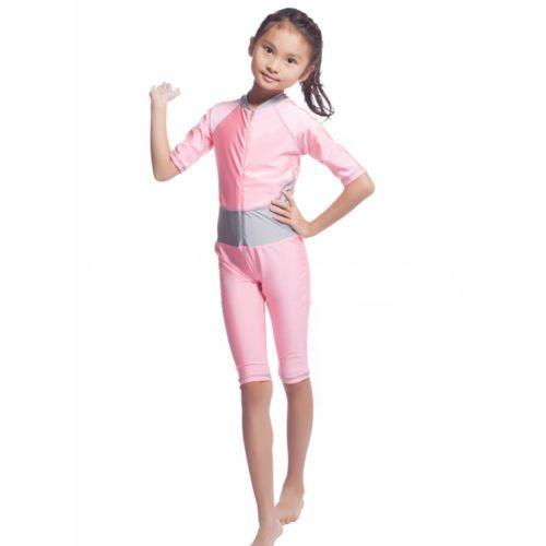 Musilim Swimwear Swimsuit Burqini hw20A Child   pink - $22.99