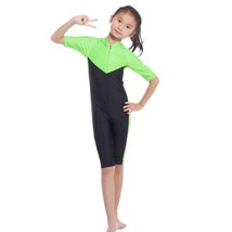 Musilim Swimwear Swimsuit Burqini hw20B Child   green - $22.99