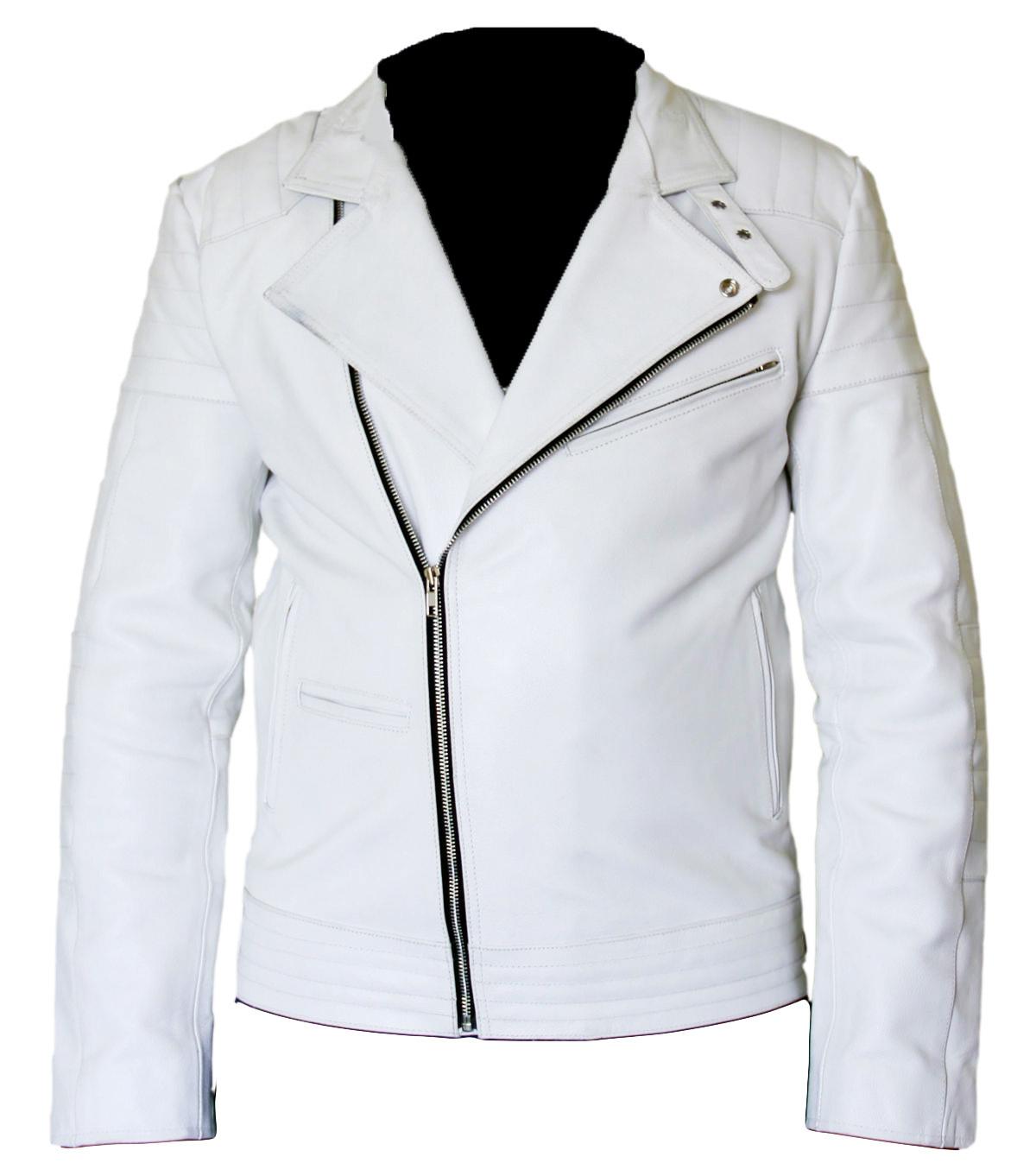 51f4e12a3c5464 Stylish Brando White Leather Jacket For and similar items