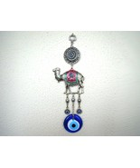 Wall Hanging Amulet Turkish Silver Plated Green Color Camel  & Evileye  ... - $14.95