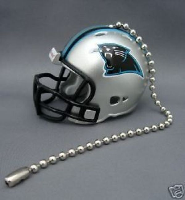 CAROLINA PANTHERS CEILING FAN LIGHT PULL & CHAIN NFL FOOTBALL HELMET