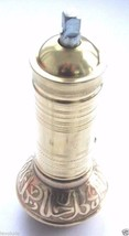 Traditional Handmade Turkish Brass Coffee Grinder  7'' /18 cm Coarse Adj... - £22.04 GBP