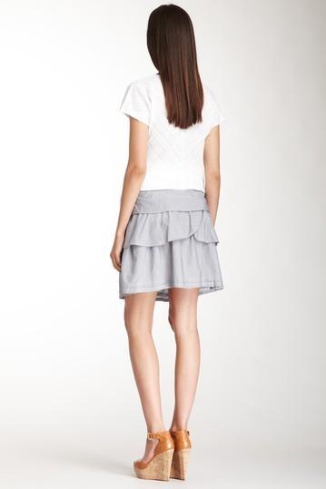 True Grit Stripe Ruffle Skirt Skirt Size Small NWT $105